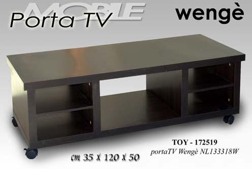Mobile porta tv dvd in legno weng 35x120x150cm 4 ruote - Porta dvd in legno ...
