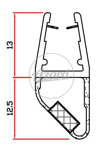 Guarnizione x box doccia mt.2 in pvc 6-8 mm trasparente