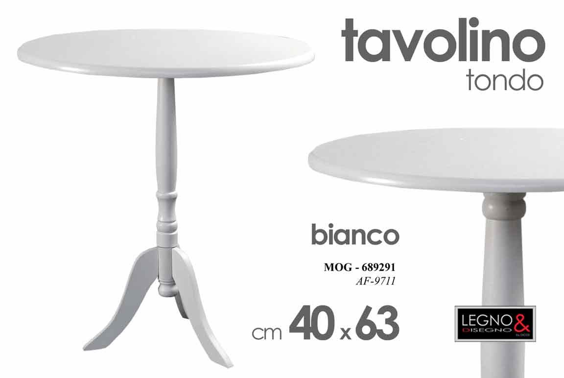 Tavolino Tre Piedi.Dettagli Su Tavolo Tavolino Salotto Bianco 40x40x63cm Tondo Tre Piedi