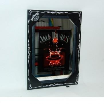 Quadro specchio cm.22x32 jack daniels arredamento bar pub