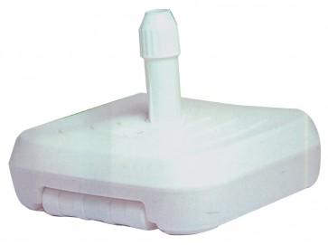 Base per ombrellone ombrelloni sostegno in plastica bianco riempibile 60x60 cm