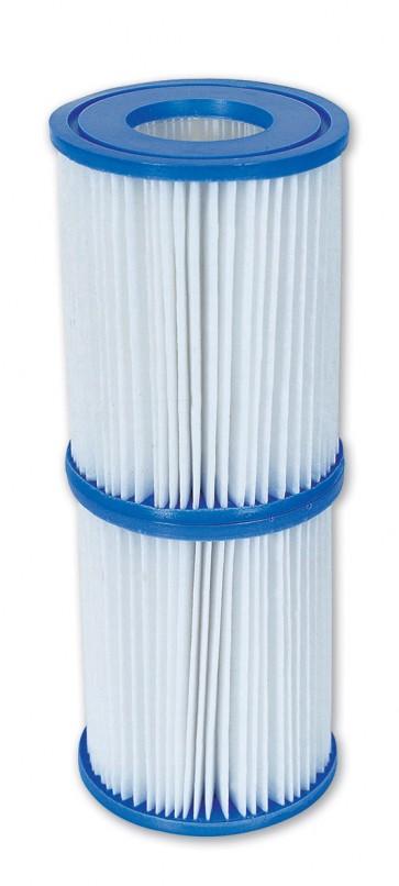 Cartuccia filtro ricambio per pompa piscina 3028 lt/h set 2 pz.