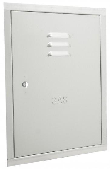 Sportello per contatore gas cm.40x50 in lamiera zincata antitaglio