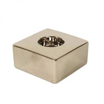 Porta tealight candele ceramica cm 9x9x4 1 posto arredo ambiente casa