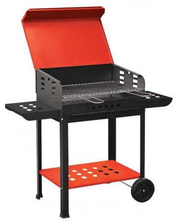 Barbecue a carbonella bracere griglia con ruote coperchio in acciaio 50X40X90hcm
