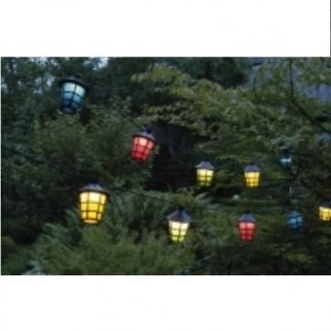 Catena di luci lanterne colorate su filo 20 pezzi 8 cm per feste party