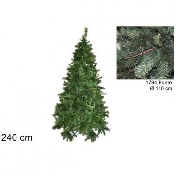 Albero di natale 240 cm pino germoglio realistico folto verde
