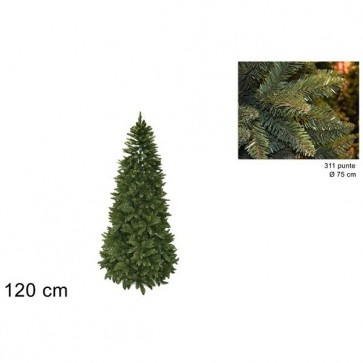Albero di Natale 120 cm pino verde realistico folto