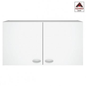 Pensile cucina mobile moderno sospeso 2 ante colore bianco 98x34x54h