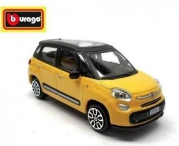 Modellino auto fiat 500 l gialla scala 1:43 cm 9x4x4 Burago in metallo