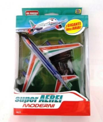 Aeroplano giocattolo modellino aereo cm 15x15 con piedistallo gioco bambino
