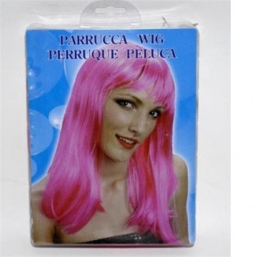 Parrucca wig perruque party chic fuxia carnevale scherzo gioco