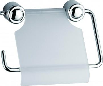 Portarotolo carta igienica in metallo cromato