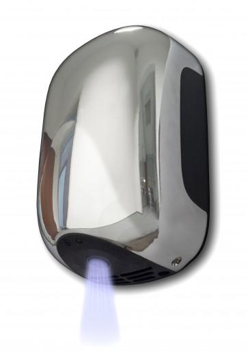 Asciugamani elettrico automatico cromato 900 w con fotocellula