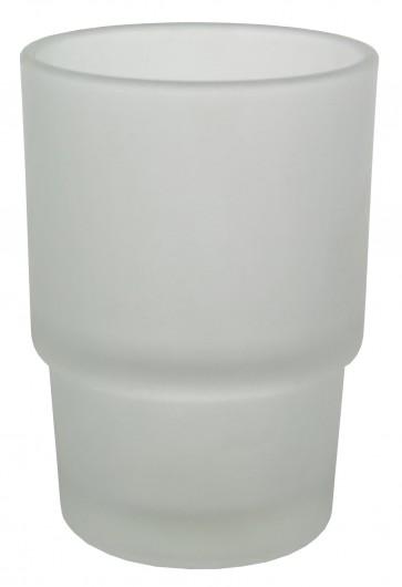 Bicchiere ricambio portaspazzolini satinato per tondo'