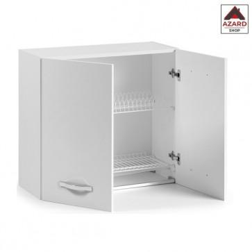 Pensile scolapiatti mobile cucina componibile bianco moderno 2 ante legno