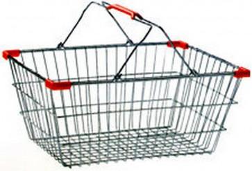 Mini cestino cromato supermercato porta oggetti arredo casa 19x13x8 cm