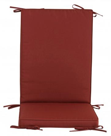 Pz 4 -  cuscino 'box' schienale medio bordeaux ht203