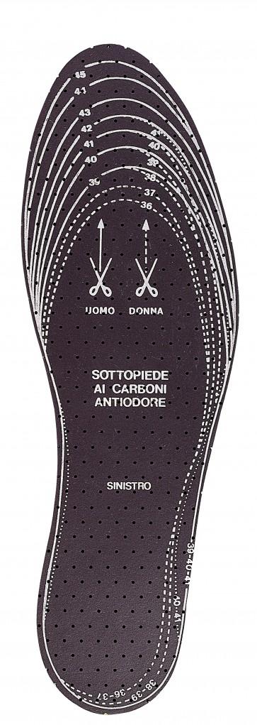 Pa 24 -  solette dx-sx 'carbone' mis.da 36 a 46