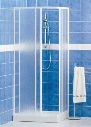 Box doccia cabina pvc angolare scorrevole reversibile 68/78-78/88 profilo bianco