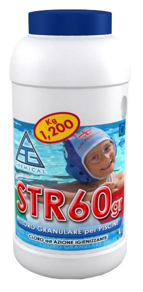 Cloro x piscina in polvere kg. 1,2 disinfettante antibatterico
