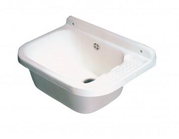 Lavabo lavatoio in resina antiurto per esterno cm 50x32 completo accessori