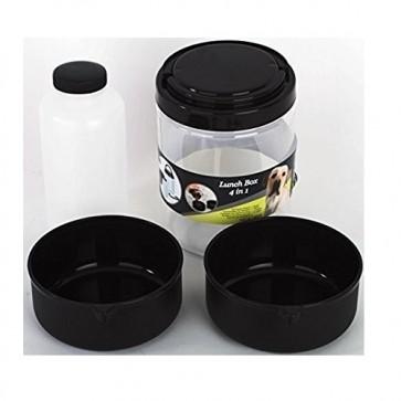 Contenitore alimenti per cani ciotola per cibo acqua 4 in 1