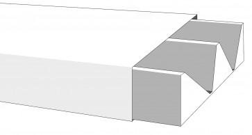 Minicanalina c/coperchio frontale 30x10 1 sc.h.200