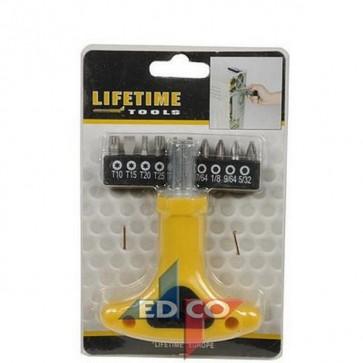 Cacciavite set 10 punte fai da te ferramenta bricolage utensili