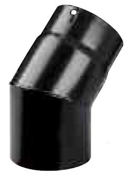 Gomito pesante porcellanato nero 45° diam.15