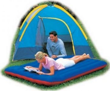 Materassino materasso campeggio tenda camping cm.203x147 gonfiabile singolo