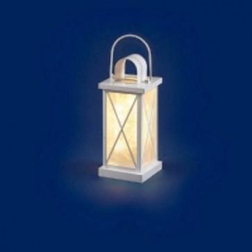Lanterna bianca a led classic 16led b03 cm 30 decorazione natale