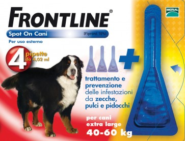 Frontline spot-on kg.40-60 cani xl (3+1)