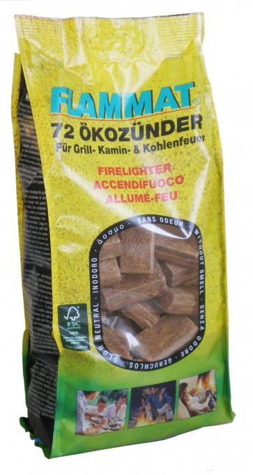 Accendifuoco ecologico 72 cubetti di legno e paraffina
