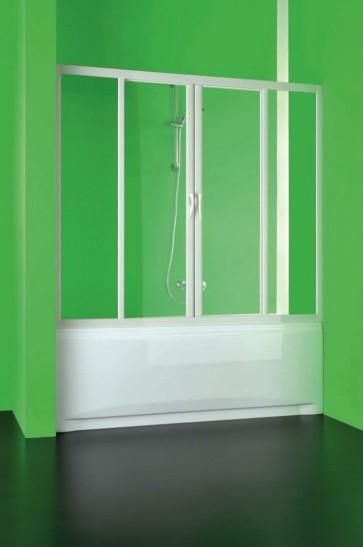 Porta doccia sopra vasca in pvc crilex acrilico 2 ante scorrevoli box 160-150