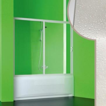 Porta doccia sopra vasca 1 lato in pvc crilex acrilico anta scorrevole box 150-140