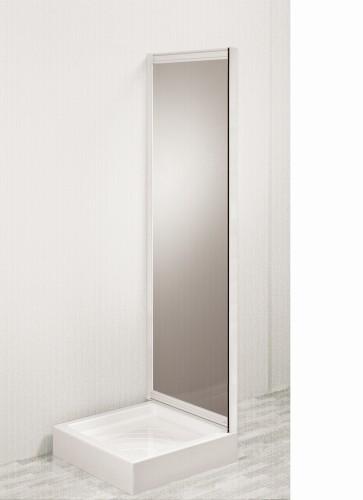 Parete vasca da bagno skipper sopravasca fissa ma. 77-80 cm profilo bianco