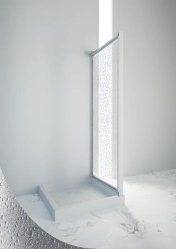 Box doccia skipper anta parete fissa cc 87-90 cm profilo bianco 001