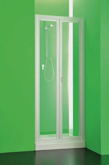 Box doccia parete 1 lato apertura libro soffietto in pvc crilex acrilico bianco