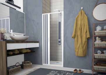 Box doccia pvc a soffietto flex porta  laterale 100-80 cm