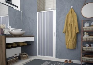 Box doccia pvc a soffietto flex porta  laterale 140-120 cm reversibile
