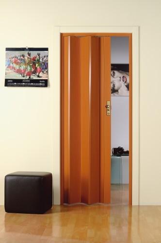 Porta a soffietto in pvc maya ciliegio 83x214 cm