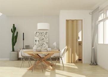 Porta a soffietto in pvc luciana legno cedro 3d  88,5x214 cm