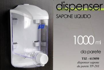 Dispenser erogatore sapone liquido da parete 1lt dosatore bagno