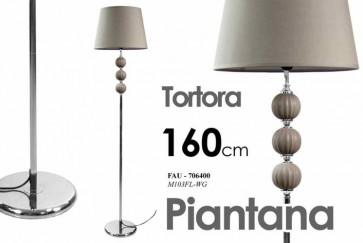 Piantana base in metallo tortora design arredo casa cm 160 h