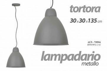 Lampadario in alluminio tortora 30x30x1,35m
