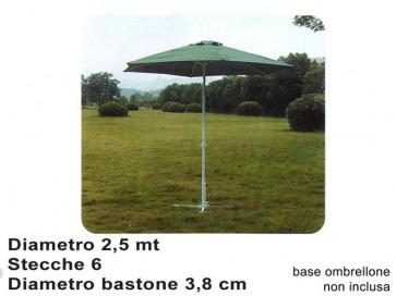 Ombrellone c/manov.dm2.5mt.6/38all verde gr-ub-004 (f14.00)