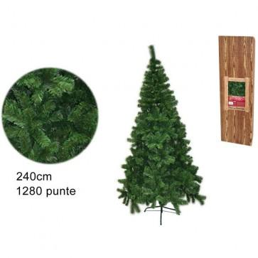 Albero di natale pino della norvegia new 240 cm 1280 rami folto