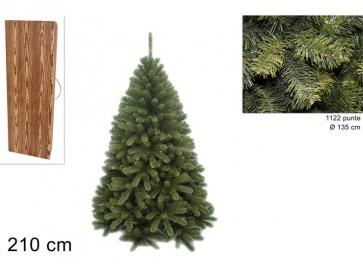 Albero di natale pino texano 210cm