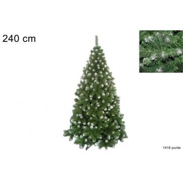 Albero natale pino s.moritz h.240 cm rami 1416 folto